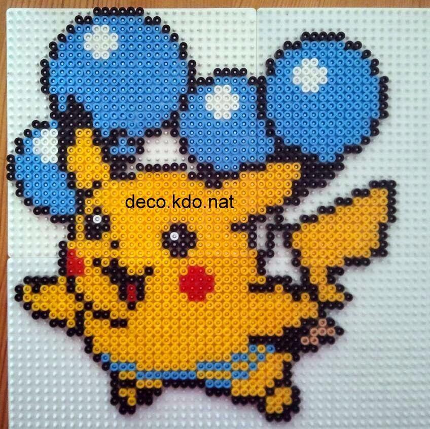 Decokdonat Perles Hama Pokemon Pikachu Aux Ballons