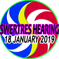 SWERTRES HEARING (January 18, 2019) - Most Dominant PCSO Swertres