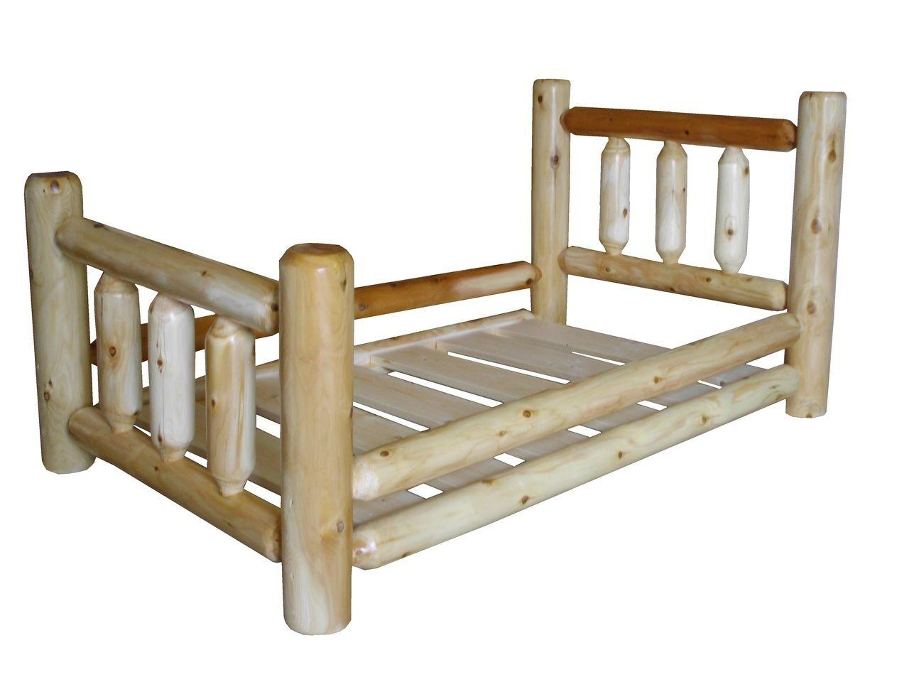 Original Cedar Log Toddler Bed | grandma games | Pinterest | Toddler ...