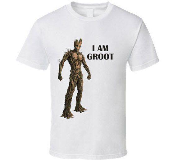65904f84751 I Am Groot Guardian of the Galaxy T Shirt unisex men kids youth boys ...