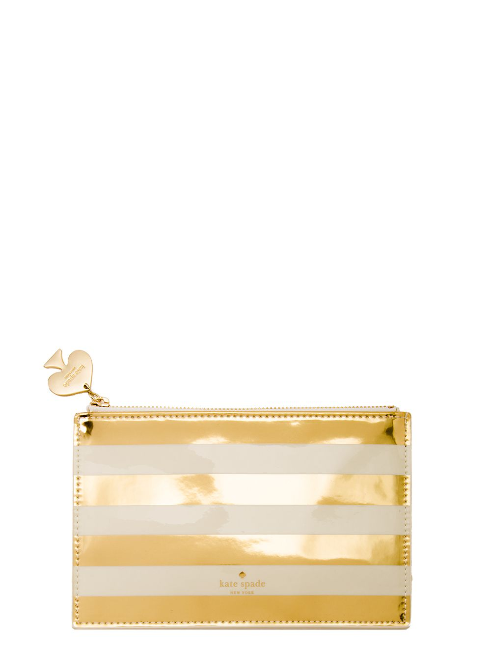 gold stripe pencil pouch | kate spade new york(ケイト・スペード ニューヨーク)