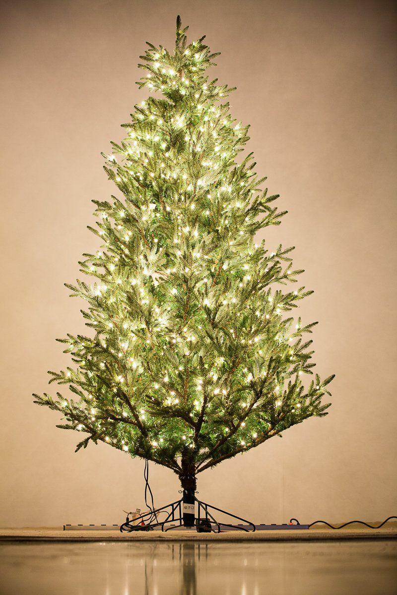 Holiday Bright Lights 9 Feet Tall Carolina Fraser Fir Best Premium Artificial Christmas Tree With Clear Whi Artificial Christmas Tree Christmas Tree Fraser Fir