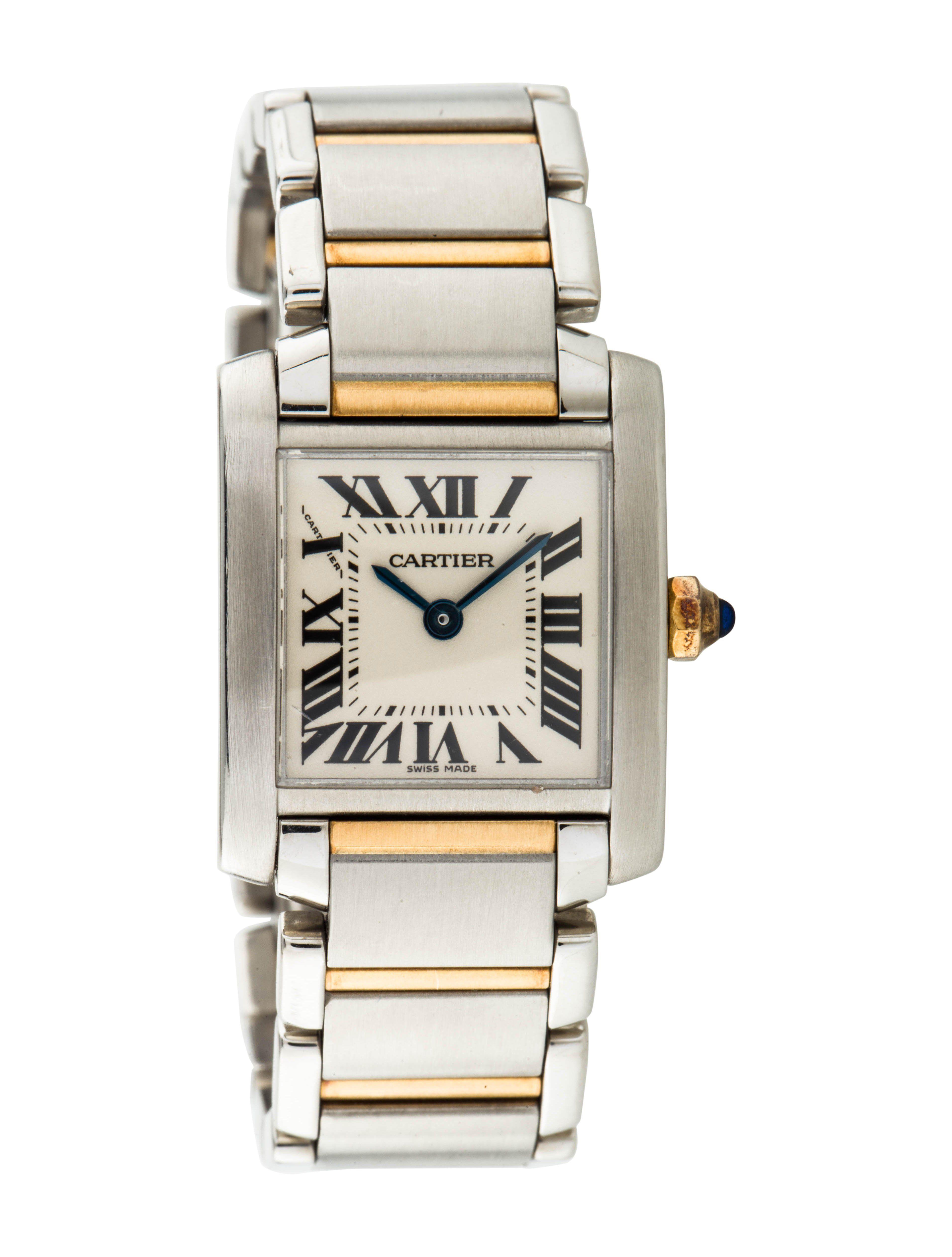 ce2bd4b73ad76 Tank Française Watch Cartier Tank Francaise, Link Bracelets, Quartz, Quartz  Crystal
