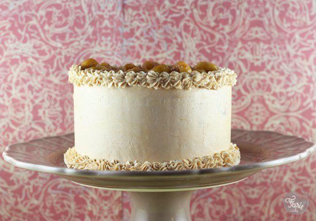 gâteau à la banane et buttercream caramel+ recette crème au beurre au caramel salé