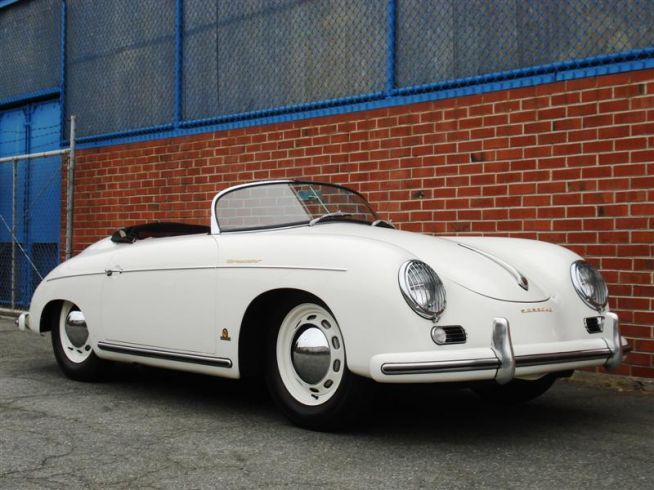 1955 Porsche 356 Speedster s/n 81127 engine no. P*605324* White with Red Interior and White Piping
