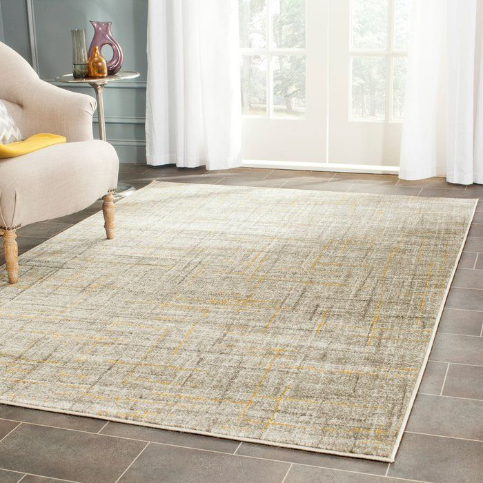 Elvis Gray Yellow Area Rug