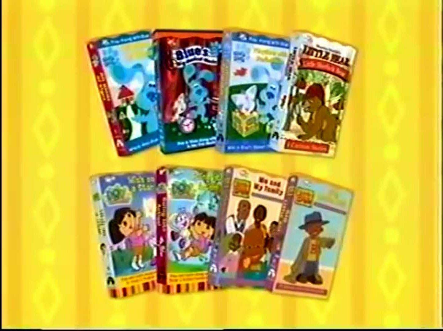 Nick Jr Videos 2001 Preview (Little Bill and Dora the Explorer ...