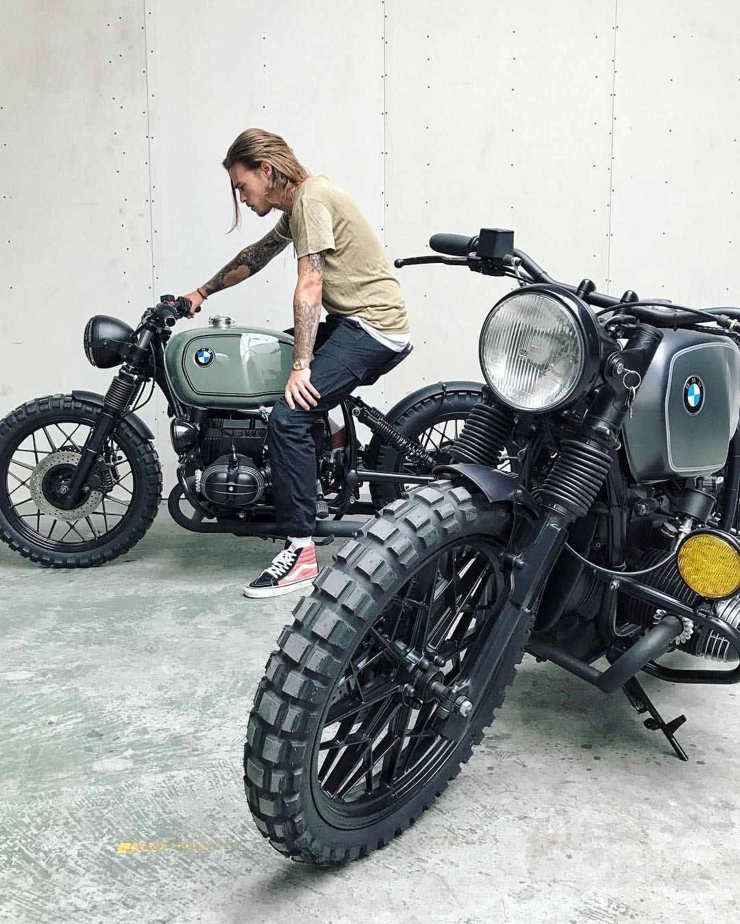 Bmw Vintage Scrambler Matth Pint Ig Matt P R With Images