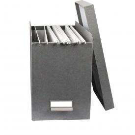 Boite De Rangement A Dossiers Suspendus Gris Flanelle Boite De Classement Dossiers Suspendus Boite Rangement Papier