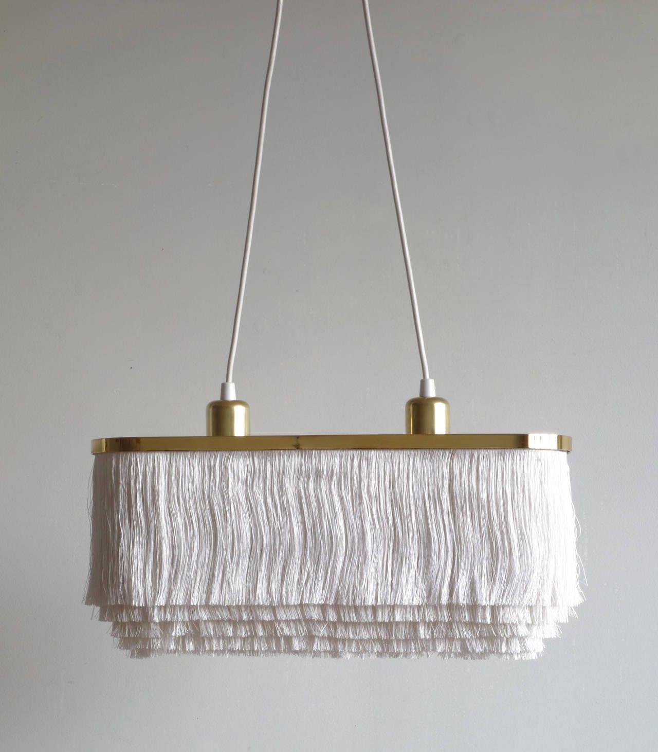 Silk Fringe Brass Pendant Lamp By Hans Agne Jakobsson In