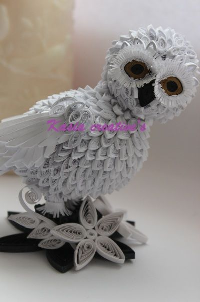 Quilling 3d Snowy Owl Quilling Patterns Quilling Quilling Designs