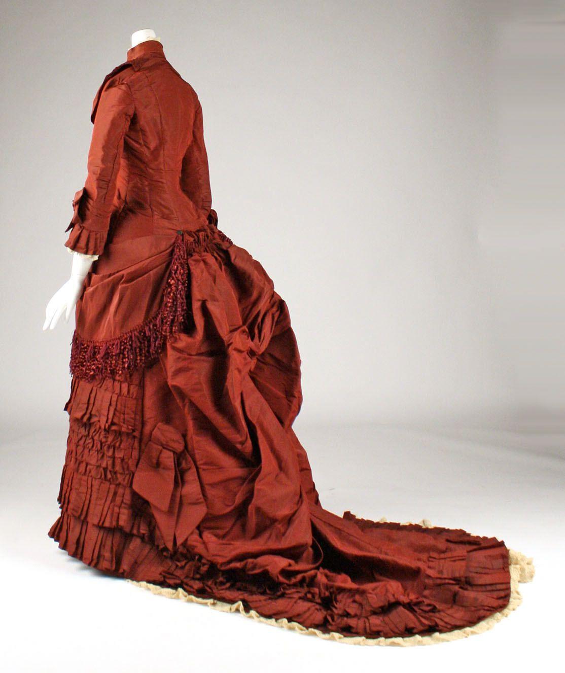 Wedding Dress: 1879, American, silk.