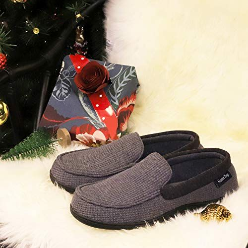 1755ca5ff06cd3 Discover Men's Comfort Memory Foam Moccasin Slippers Breathable Cotton Knit  Terry Cloth House Shoes. Explore