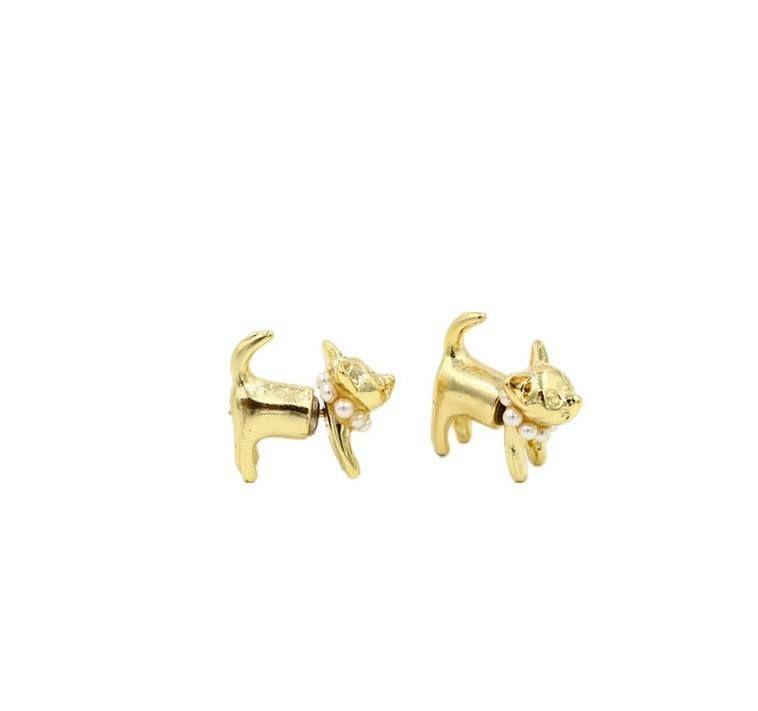 Extraordinary Fake Gauge Cat Stud Earrings (FREE SHIPPING)