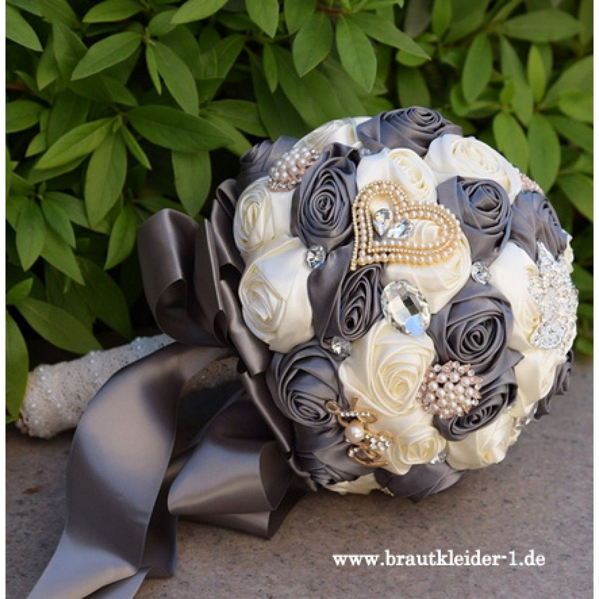 Photo of Stunning Artificial Bouquet 2019 in Gray Cream with …