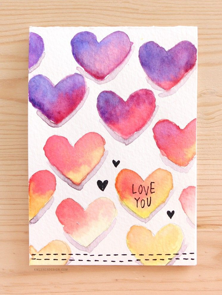 Easy DIY Valentines Day Card Made with Minimal Supplies – Make Valentines Day Cards