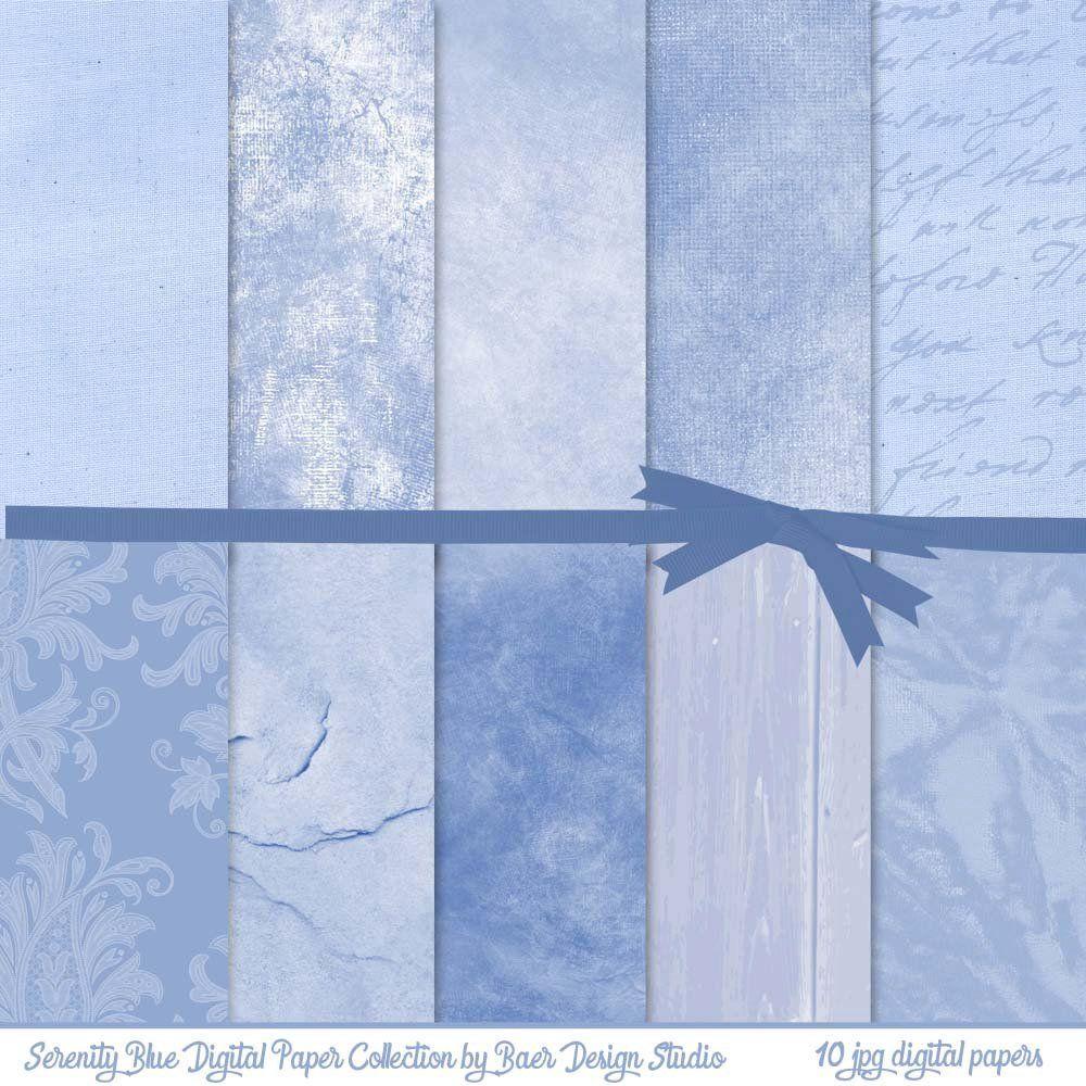 Digital Background Dusty Blue Digital Paper Distressed Blue