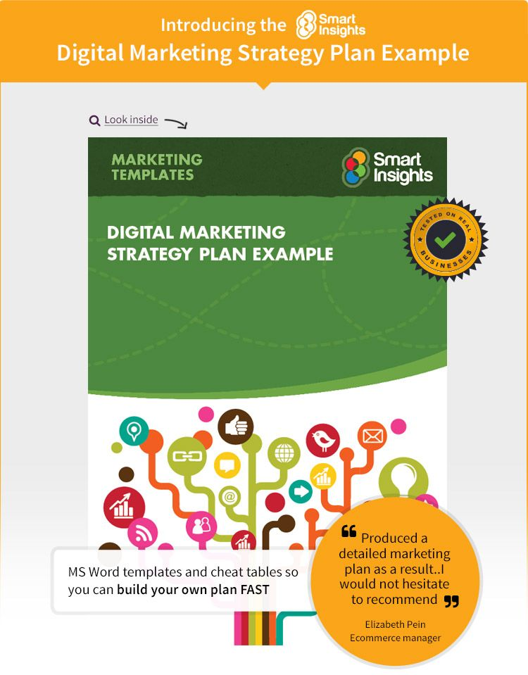 Digital Marketing Plan Example - Smart Insights Digital Marketing - digital marketing plan template
