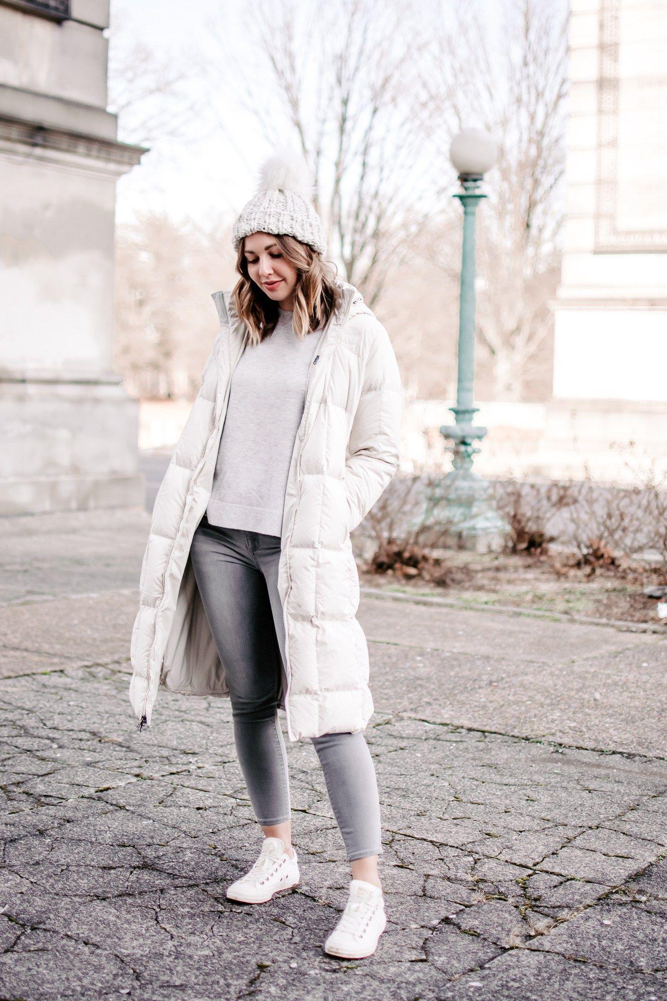 white converse in winter