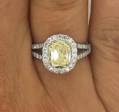 2.00 Ct Oval Cut Enhanced Fancy Yellow Diamond Engagement Ring 14K White Gold https://t.co/jQwUr0IYGe https://t.co/AuHzUl3cYp