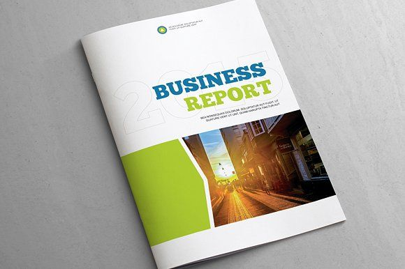 Business Report - Template by Templatepickup on @creativemarket - free business report template