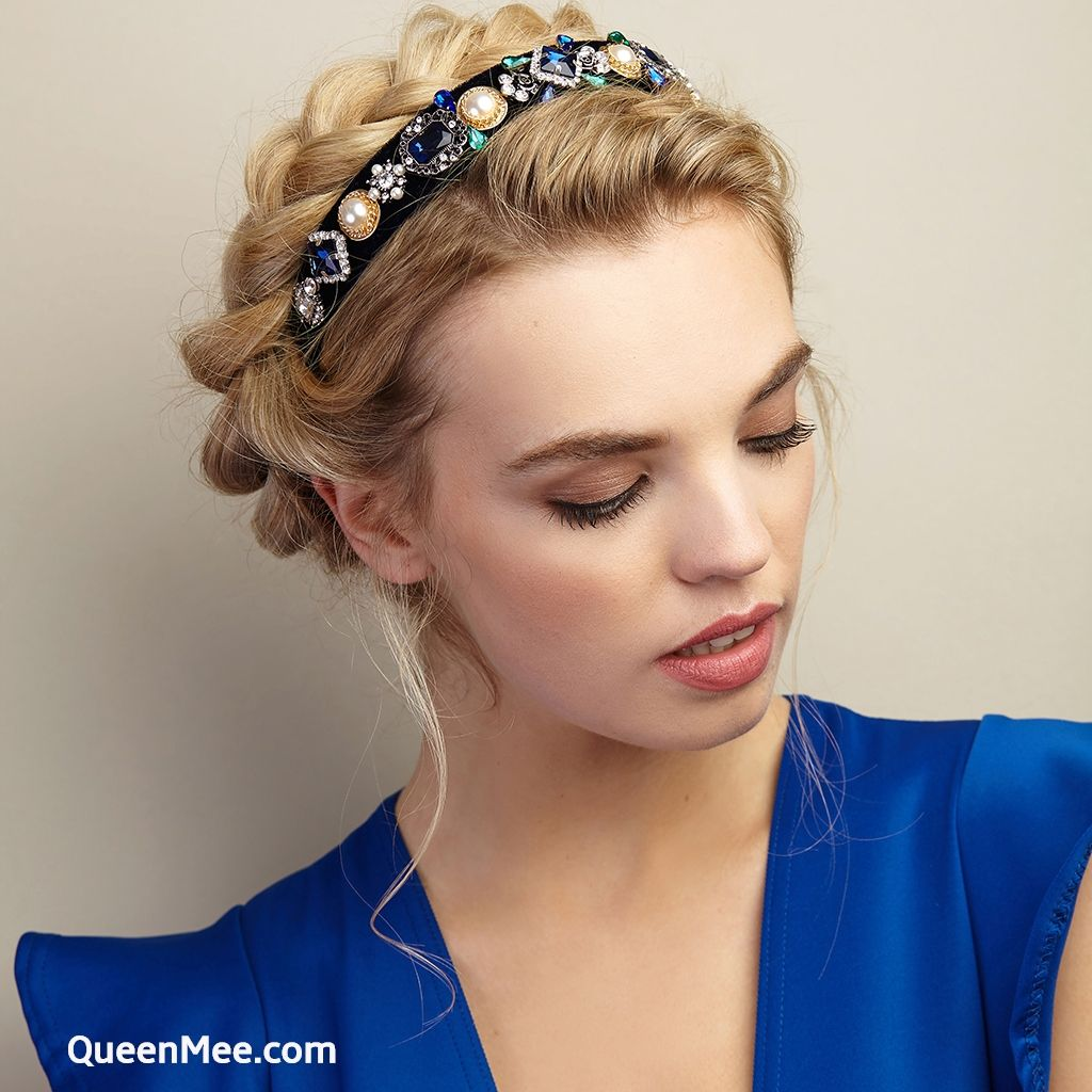 Vintage Headband Jewelled Alice Band Headband Hairstyles Guest Hair Curly Hair Accessories