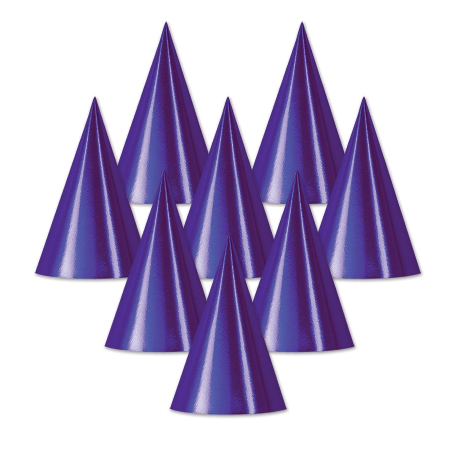 Foil Cone Hat, purple in 2020 Purple foil, Purple cases