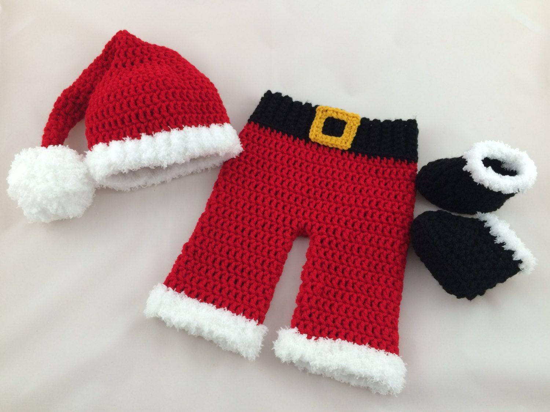 437fc3d55e86 Baby Santa Outfit - Crochet Santa Suit - Newborn Santa Outfit - Baby First…