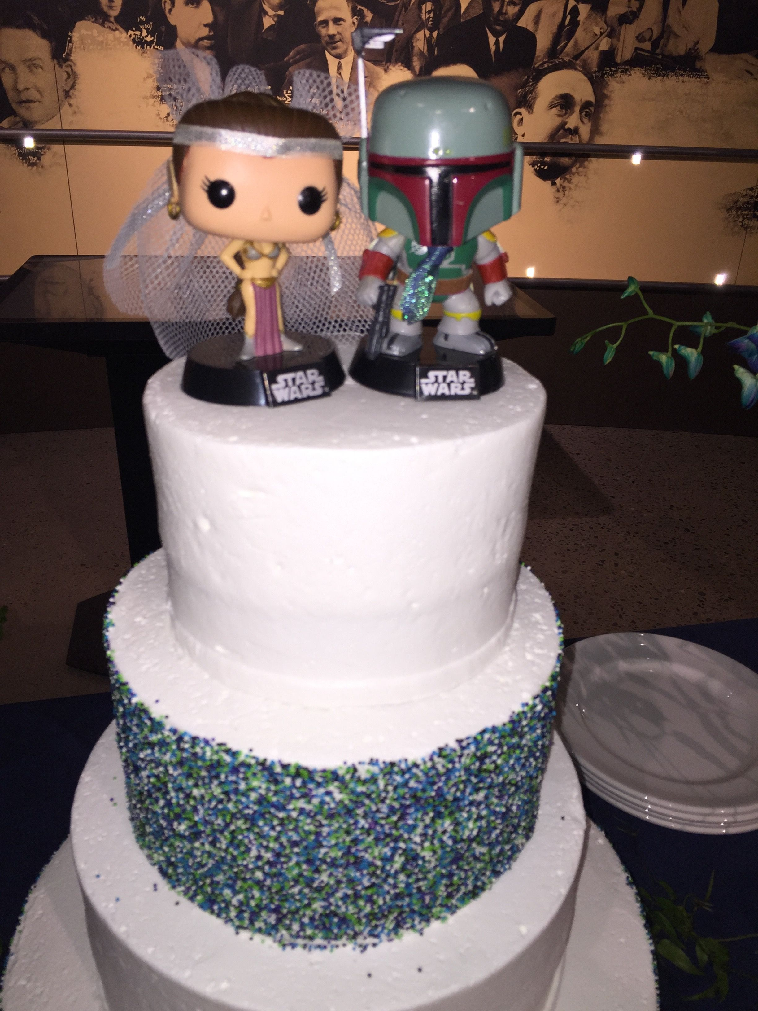 Star Wars Wedding Cake Toppers Flowers by The Petal Patch in ...
