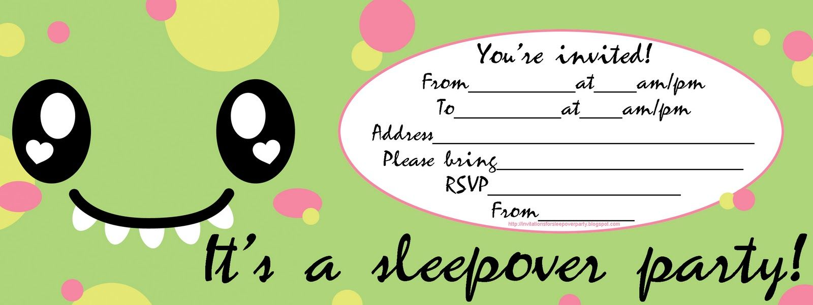 cute sleepover party invite dino jpg  1600 u00d7601