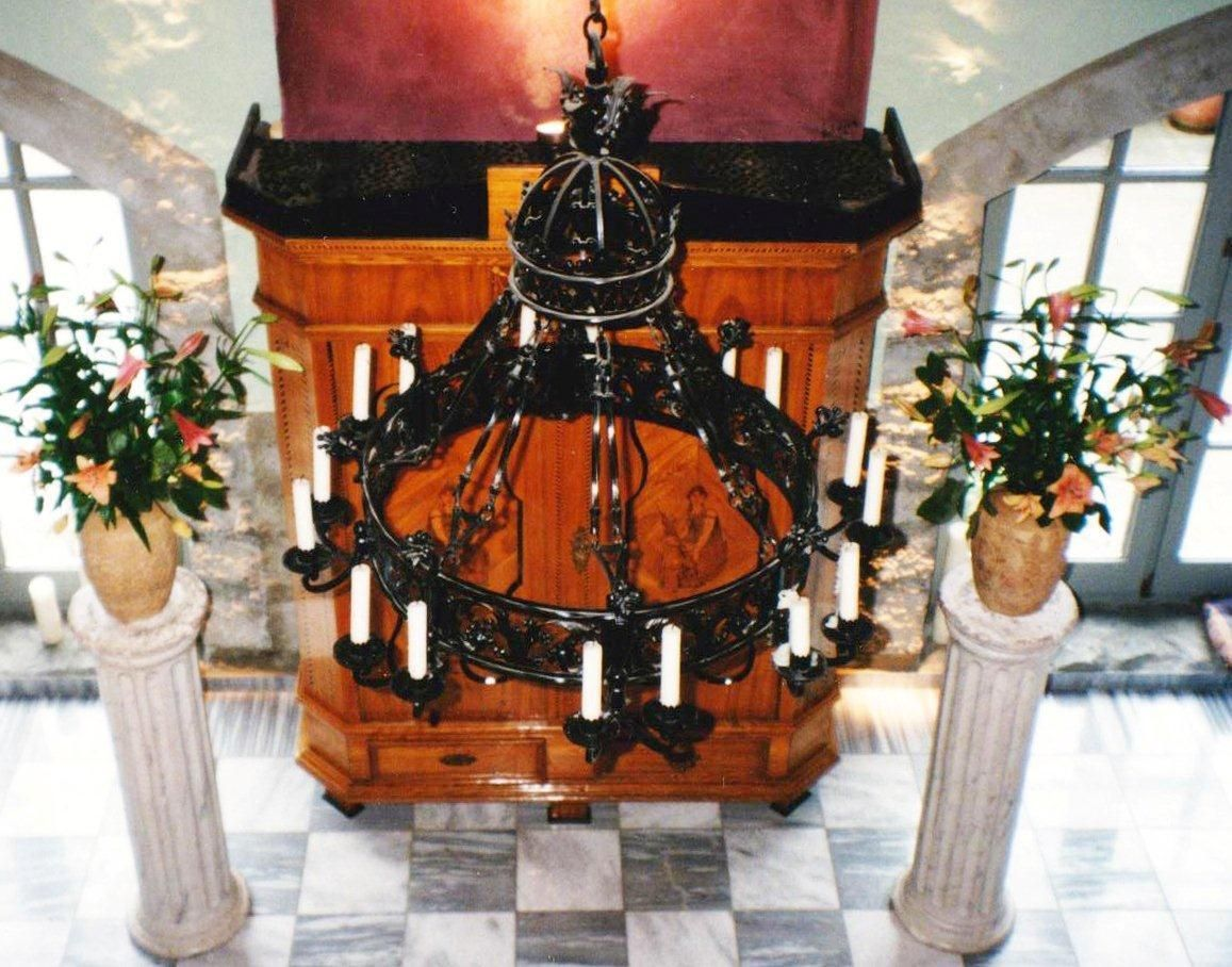 schmiedeeisen kerzen kronleuchter l ster decken lampe antik gotik rokoko barock ebay. Black Bedroom Furniture Sets. Home Design Ideas