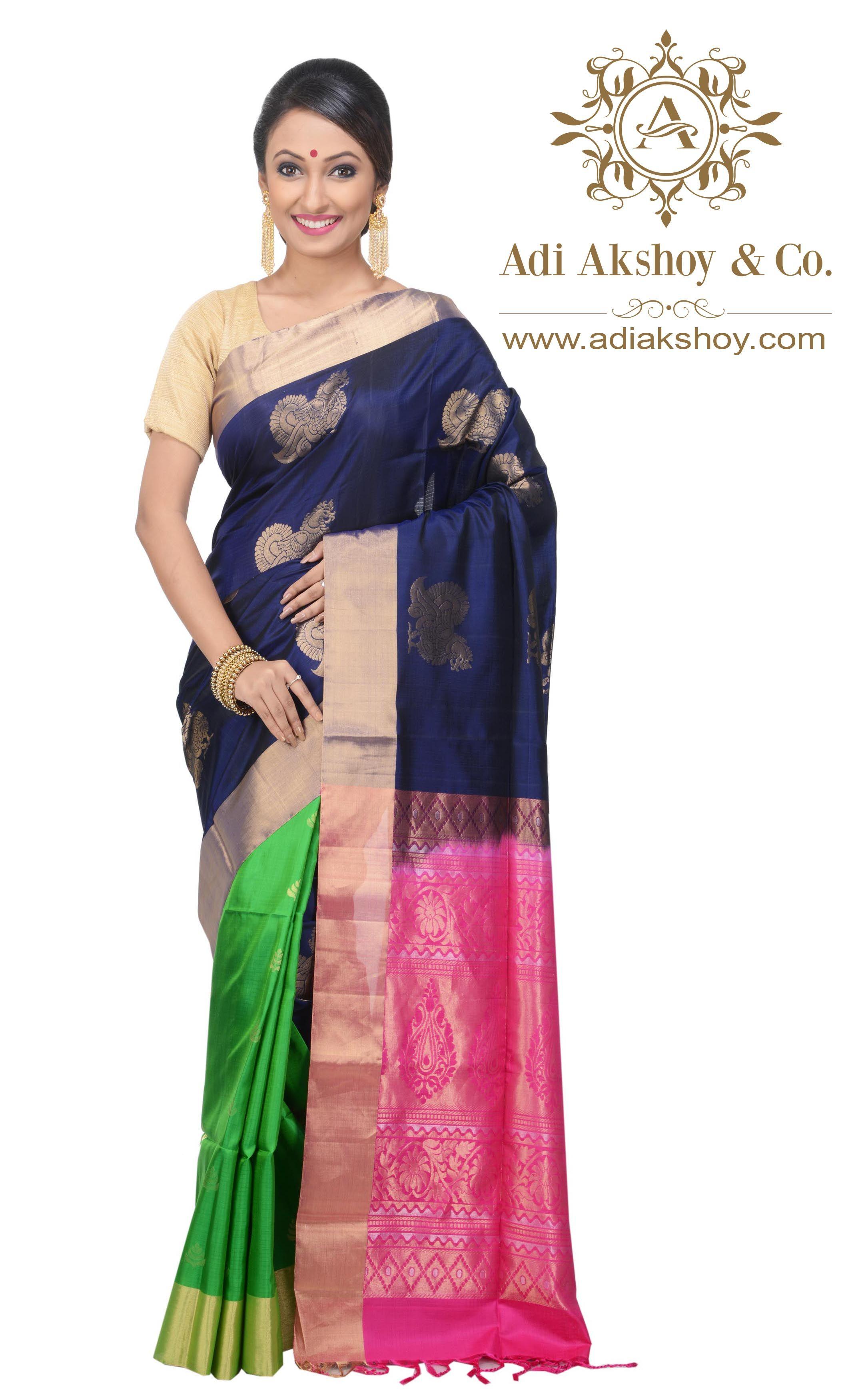 cd4775a362 Arni Silk Saree Price : Rs 10,910.00 Saree SKU : AA1001448 For More  Collection Visit : www.adiakshoy.com