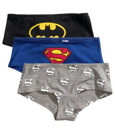 e1ca3734a H M 3-pack cotton hipster briefs   Batman + Superman £7.99