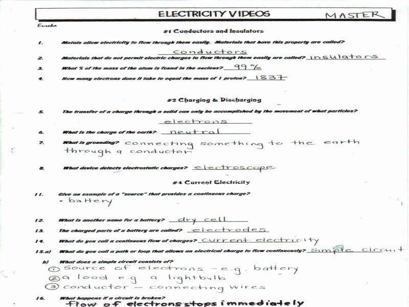 43 Bill Nye Static Electricity Worksheet in 2020