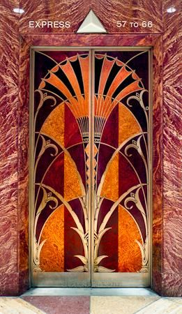 Art Deco Elevator Chrysler Building NYCDesigned by architect William Van Alen for a project of Walter P. Chrysler - Chrysler Building Elevator door ... & Impactful elevator doors | Art Deco Glass | Pinterest | Elevator ... pezcame.com