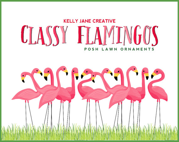 Pink Flamingo Lawn Ornament Clipart   Stationery and Product Graphics   Fundraiser Flamingo Illustrations   Vector Graphics is part of lawn Illustration Etsy -  Lawn flamingos always make me smile! When I was a little girl, we would drive to see my great uncles on their farm way way out in the country  It was over an hour of driving on back roads  There was a house on the outskirts of a little town that we loved to look at  It was a small stucco house that was painted pink and white with brown trim  One day, we noticed they had painted windows on the sides of the house were there were none  Then there was a painted tree by the garage  Soon there were painted shrubs under the painted windows, followed by a large wicker screen in the front yard with pink parrots on it  Finally, they added the flamingos  Seeing pink flamingos always reminds me of that trip and how much fun we had  I hope you enjoy my flamingos ) INSTANT DOWNLOAD  That's right! You'll have these files in a jiffy! Immediately after purchase, you'll be taken to a download page  Once Etsy has confirmed your payment, the downloads will become available  It may take a few minutes for the payment to be processed   3 Ways to find that Download page Etsy will email you a link to the download page, you can always access your download page from your Purchases page, AND the link will even be on your receipt! If you have problems with the download, contact me and I'll help you out ASAP! All sales are final  Please send any questions regarding my products prior to purchase  This listing is for digital files, you will not receive any printed products in the mail  © Kelly Jane Creative