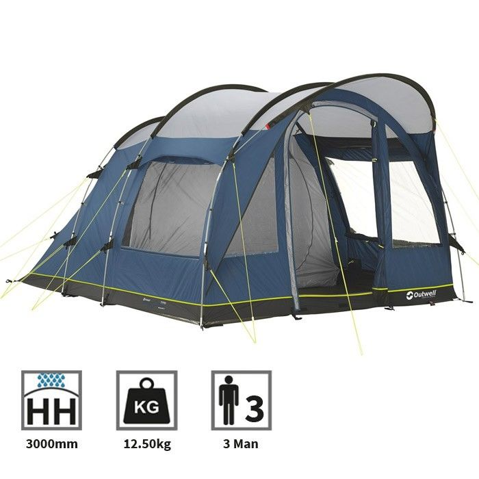 Tents  sc 1 st  Pinterest & pu003eThe Outwell Rockwell 3 is a two room tunnel tent which is ideal ...