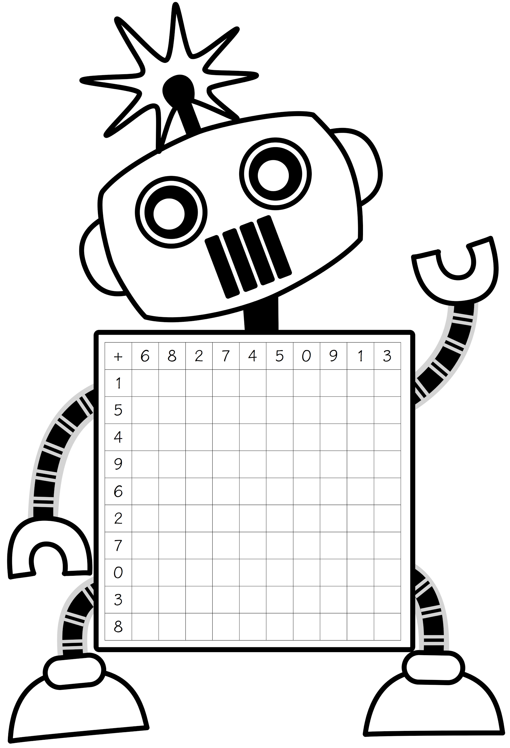 Displaying Robot Addition Grid