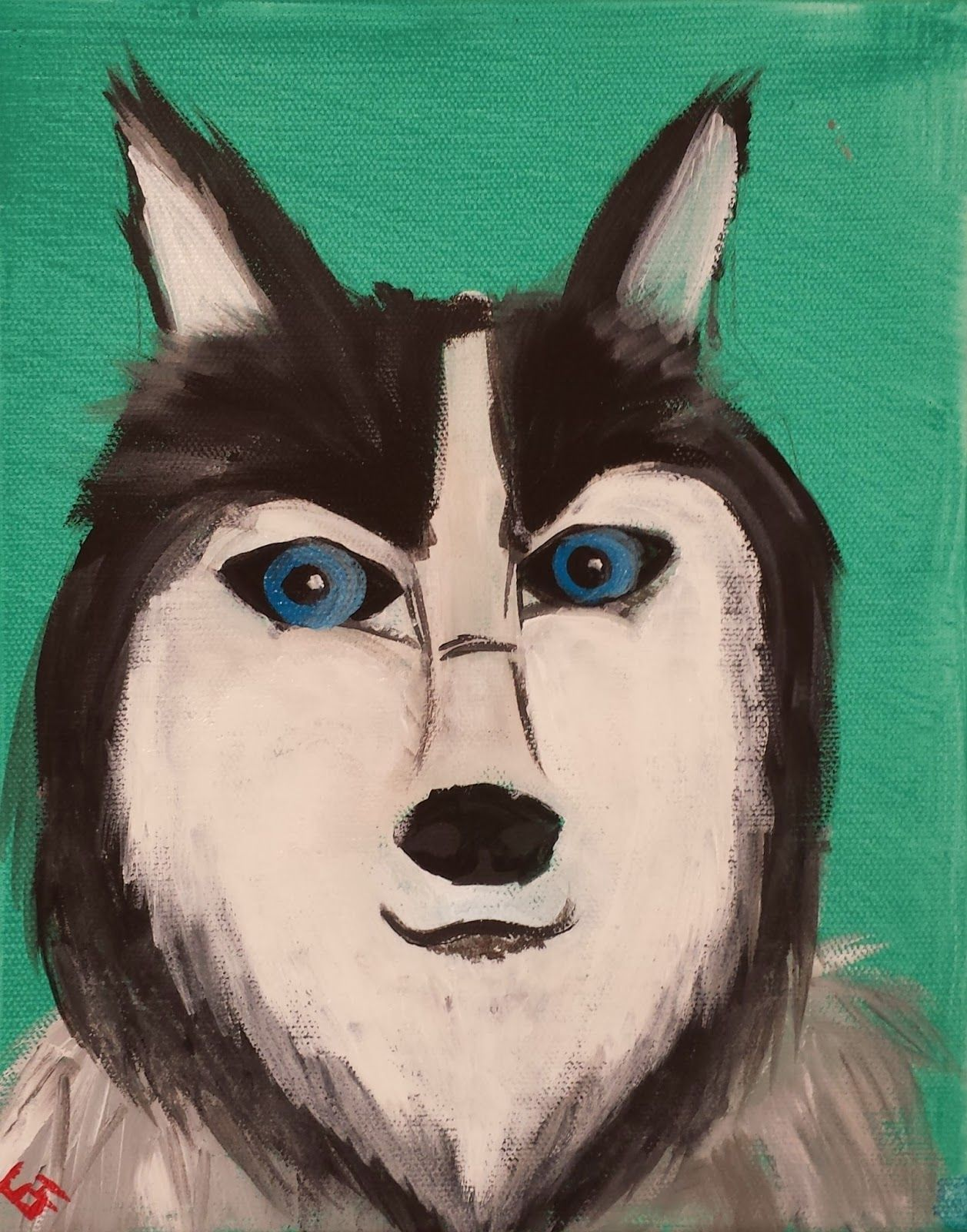Angela Anderson Art Blog: Dog Portrait Acrylic Paintings ...