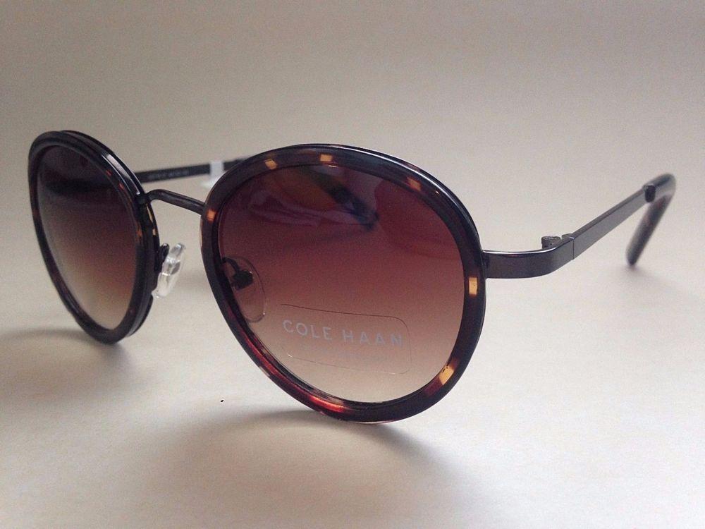 c4705586aa Cole Haan Round Sunglasses New Authentic C6118 21 Brown Tortoise Gradient  Lens  ColeHaan  Round