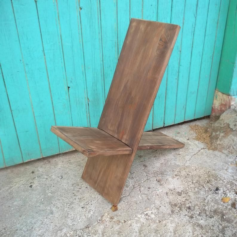 Viking chair, Stargazer chair, Foldable wooden chair, Two