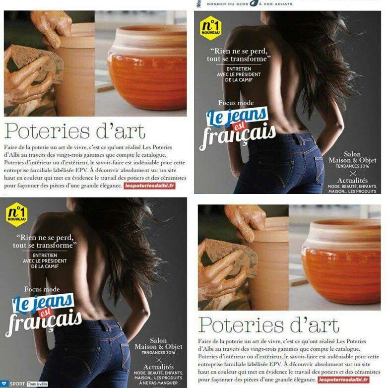 le nouveau magasine mag in france parle du design des poteries dalbi dans son