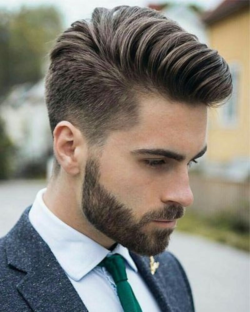 Nice stylish hairstyles for men with beards more at