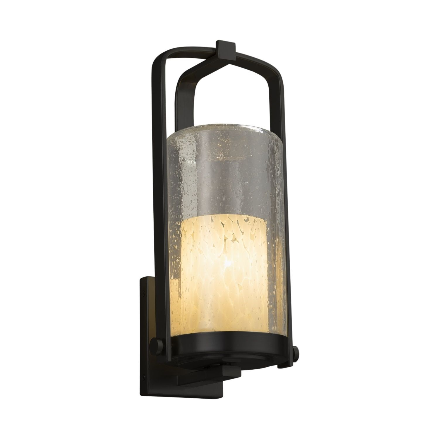 Justice design fusion atlantic matte outdoor wall sconce droplet