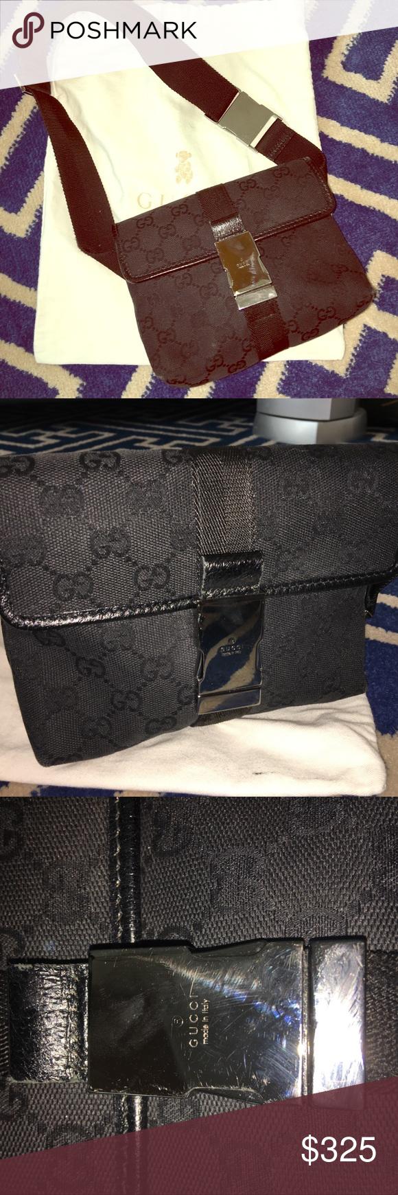 f667971e24cd GUCCI Monogram Small Belt Bag GUCCI Monogram Small Belt Bag Fanny Pack 100%  Authentic This