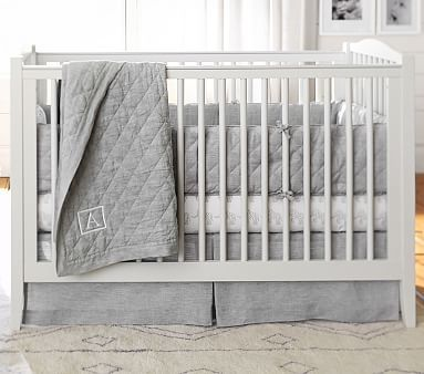 Emerson Crib Water Based Brushed Fog Ups Pottery Barn