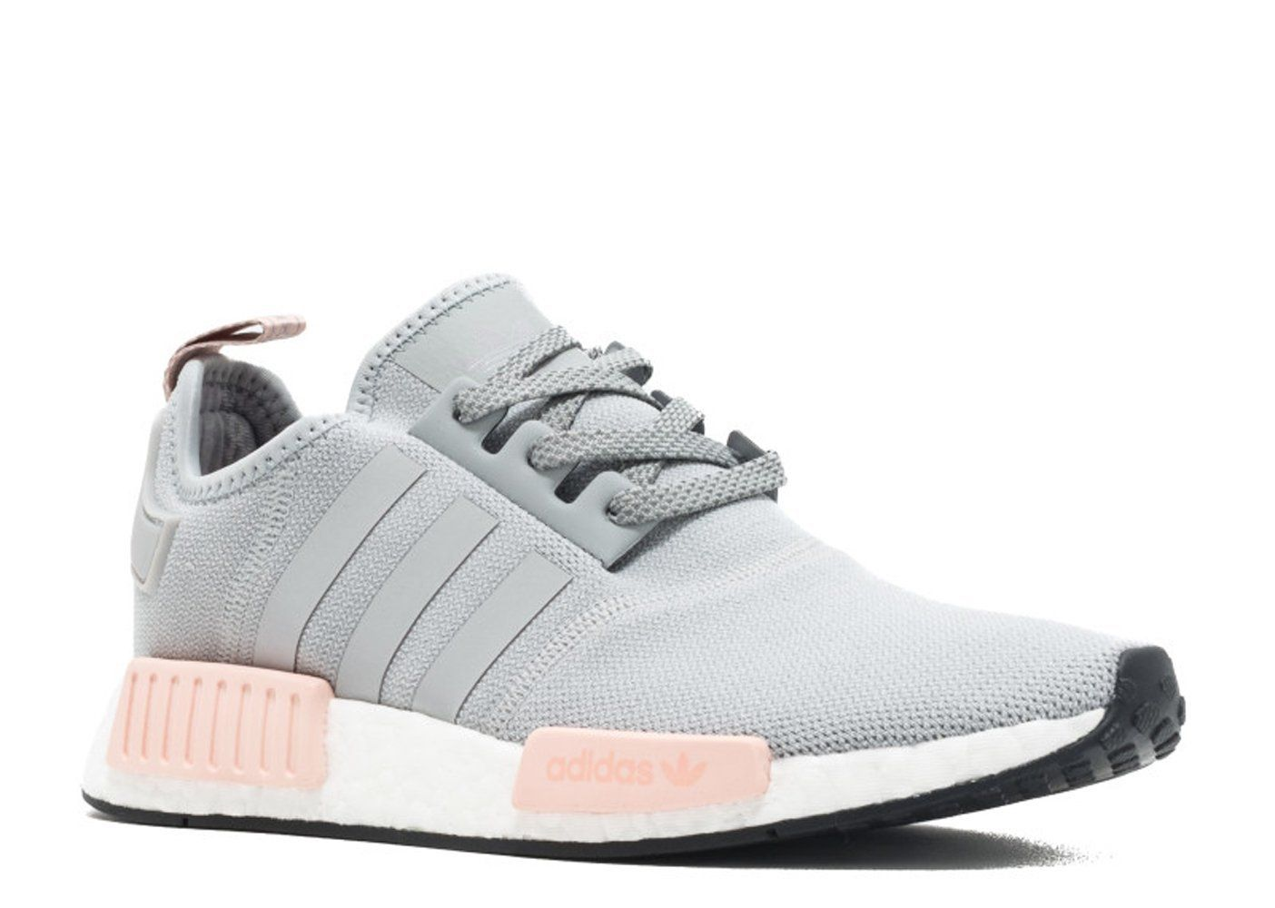 KEEVIN Adidas NMD r1 raw gray pink women\u0027s casual shoes