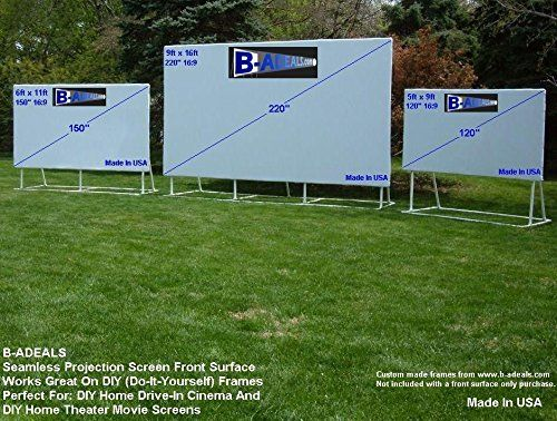 Amazon Com 5x9 120 16 9 Projector Screen With Custom Made Pvc Frame Electronics Diy Outdoor Movie Screen Outdoor Projector Screens Projector Screen Diy