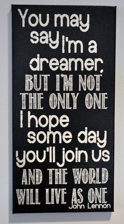 Pin By Hannah Steffan On Motivational Imagine John Lennon Canvas Art Wall Decor Kids Room Wall Art