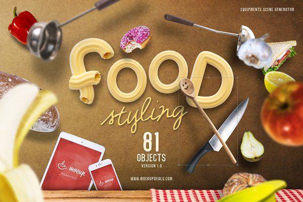 Food Styling PSD Scene Generator - Product Mockups